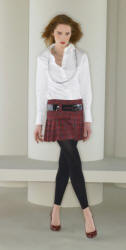 Matalan layered look and tartan mini skirt of 2006 autumn range.